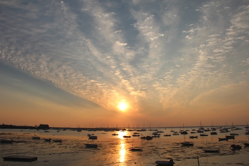 Beautiful Sunrise over Provincetown Harbor