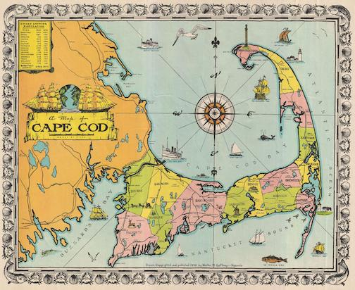 1932 Walte M. Gaffney Map of CapeCod
