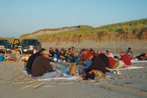 Sunset picnic with Art's Sand Dune Tours