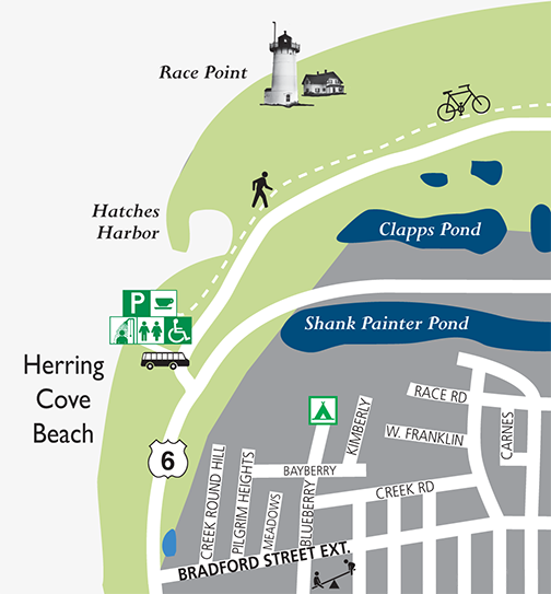 Provincetown Map Herring Cove Beach