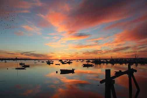 Beautiful sunrise over Provincetown Harbor