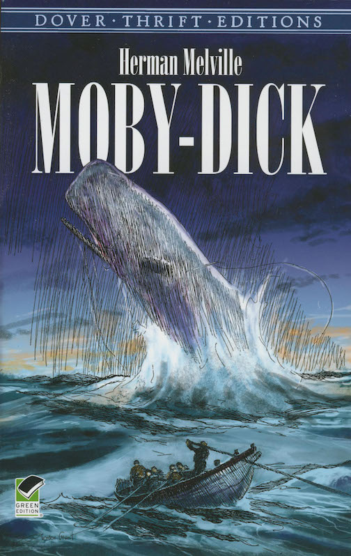 Moby-Dick by Herman Melville book cover